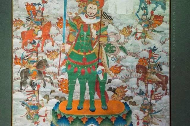 蒙古第一世哲布尊丹巴活佛亲身书画的圣主成吉思汗之像 第1张 蒙古第一世哲布尊丹巴活佛亲身书画的圣主成吉思汗之像 蒙古画廊