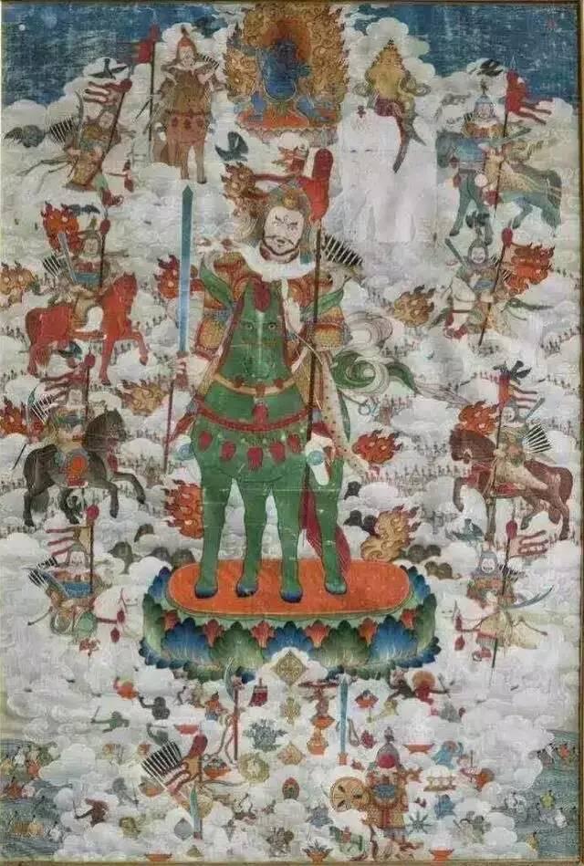 蒙古第一世哲布尊丹巴活佛亲身书画的圣主成吉思汗之像 第3张 蒙古第一世哲布尊丹巴活佛亲身书画的圣主成吉思汗之像 蒙古画廊