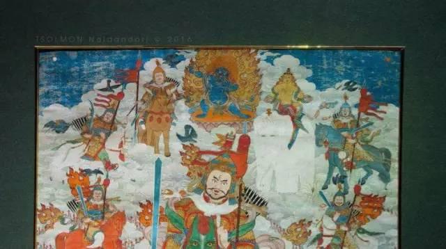 蒙古第一世哲布尊丹巴活佛亲身书画的圣主成吉思汗之像 第4张 蒙古第一世哲布尊丹巴活佛亲身书画的圣主成吉思汗之像 蒙古画廊