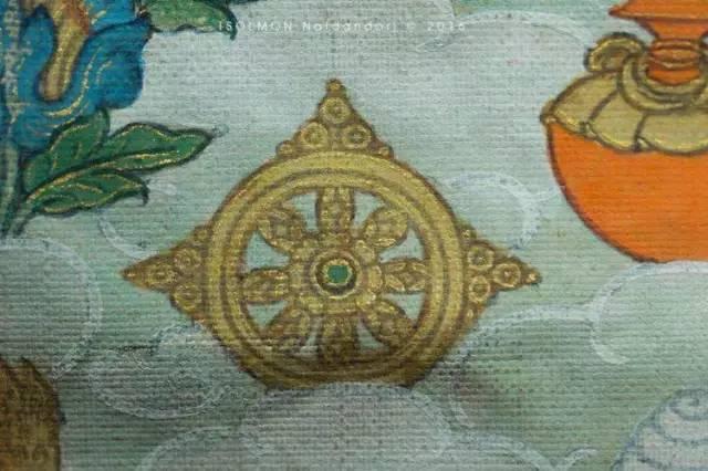 蒙古第一世哲布尊丹巴活佛亲身书画的圣主成吉思汗之像 第9张 蒙古第一世哲布尊丹巴活佛亲身书画的圣主成吉思汗之像 蒙古画廊