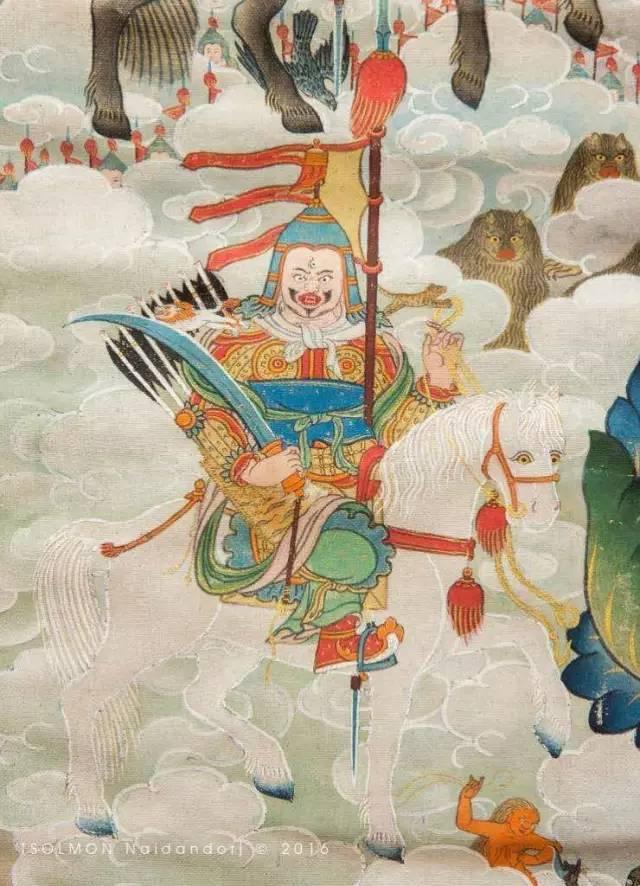 蒙古第一世哲布尊丹巴活佛亲身书画的圣主成吉思汗之像 第24张 蒙古第一世哲布尊丹巴活佛亲身书画的圣主成吉思汗之像 蒙古画廊