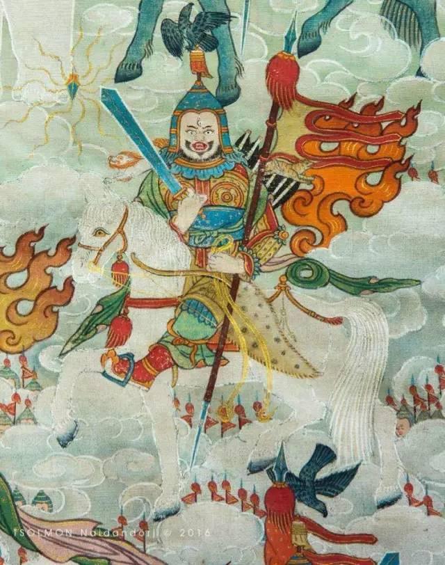 蒙古第一世哲布尊丹巴活佛亲身书画的圣主成吉思汗之像 第30张 蒙古第一世哲布尊丹巴活佛亲身书画的圣主成吉思汗之像 蒙古画廊