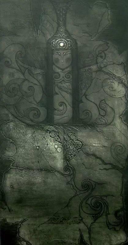 图布其其格 | 骨子里的刻划情 第3张 图布其其格 | 骨子里的刻划情 蒙古画廊