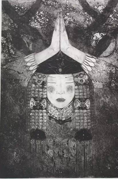 图布其其格 | 骨子里的刻划情 第4张 图布其其格 | 骨子里的刻划情 蒙古画廊