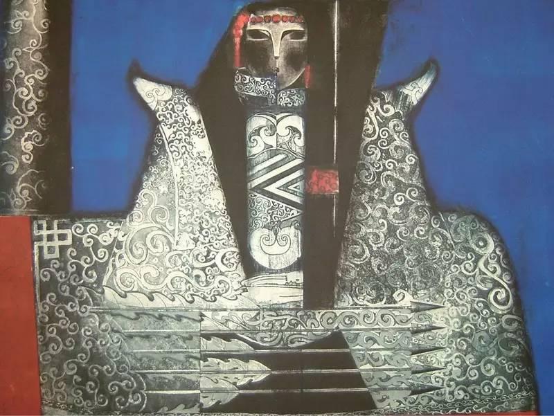 图布其其格 | 骨子里的刻划情 第2张 图布其其格 | 骨子里的刻划情 蒙古画廊