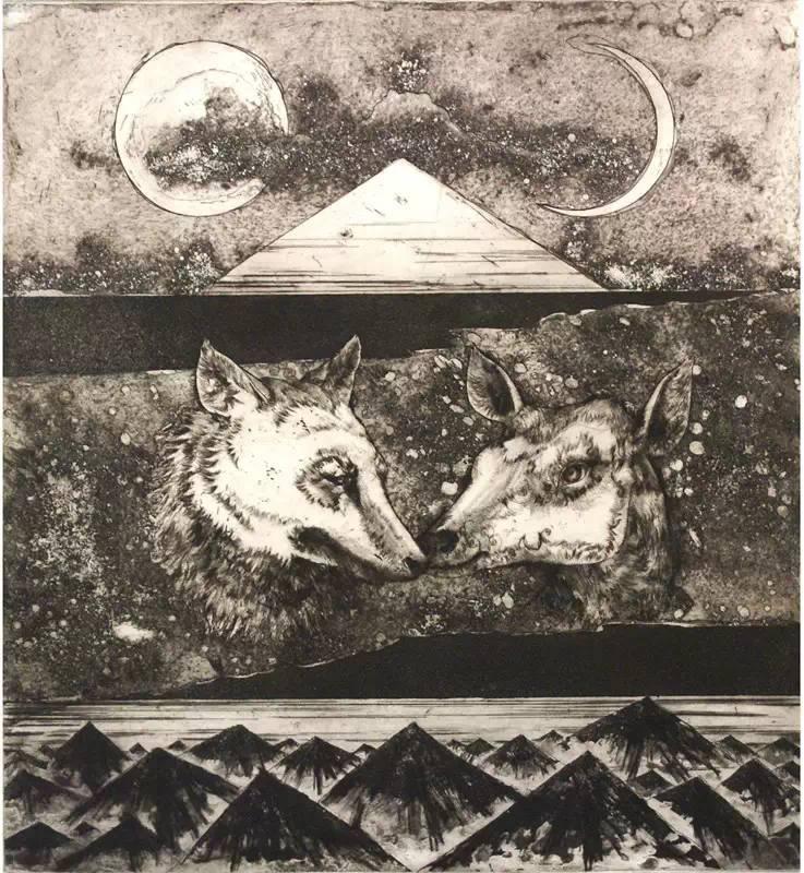 图布其其格 | 骨子里的刻划情 第8张 图布其其格 | 骨子里的刻划情 蒙古画廊