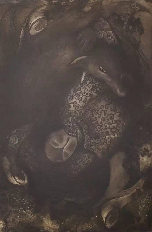 图布其其格 | 骨子里的刻划情 第9张 图布其其格 | 骨子里的刻划情 蒙古画廊