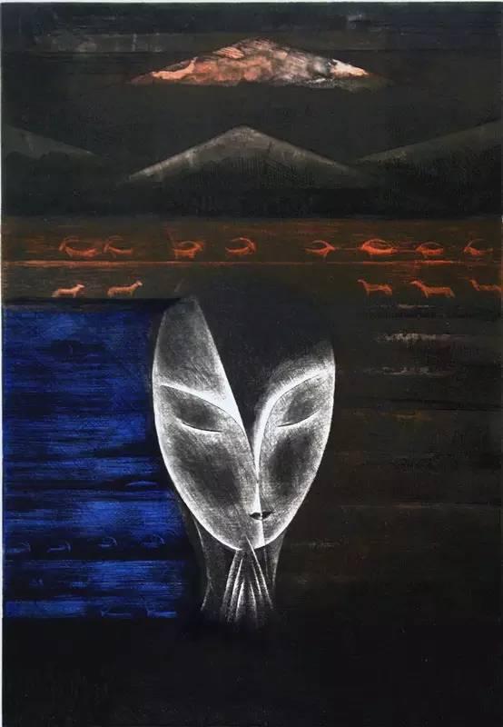 图布其其格 | 骨子里的刻划情 第6张 图布其其格 | 骨子里的刻划情 蒙古画廊