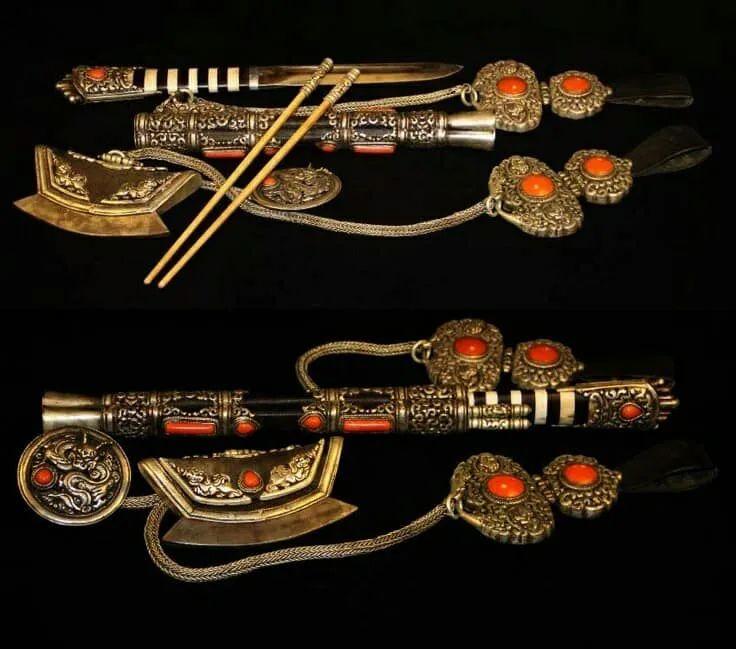 蒙古族佩刀装饰艺术 第13张