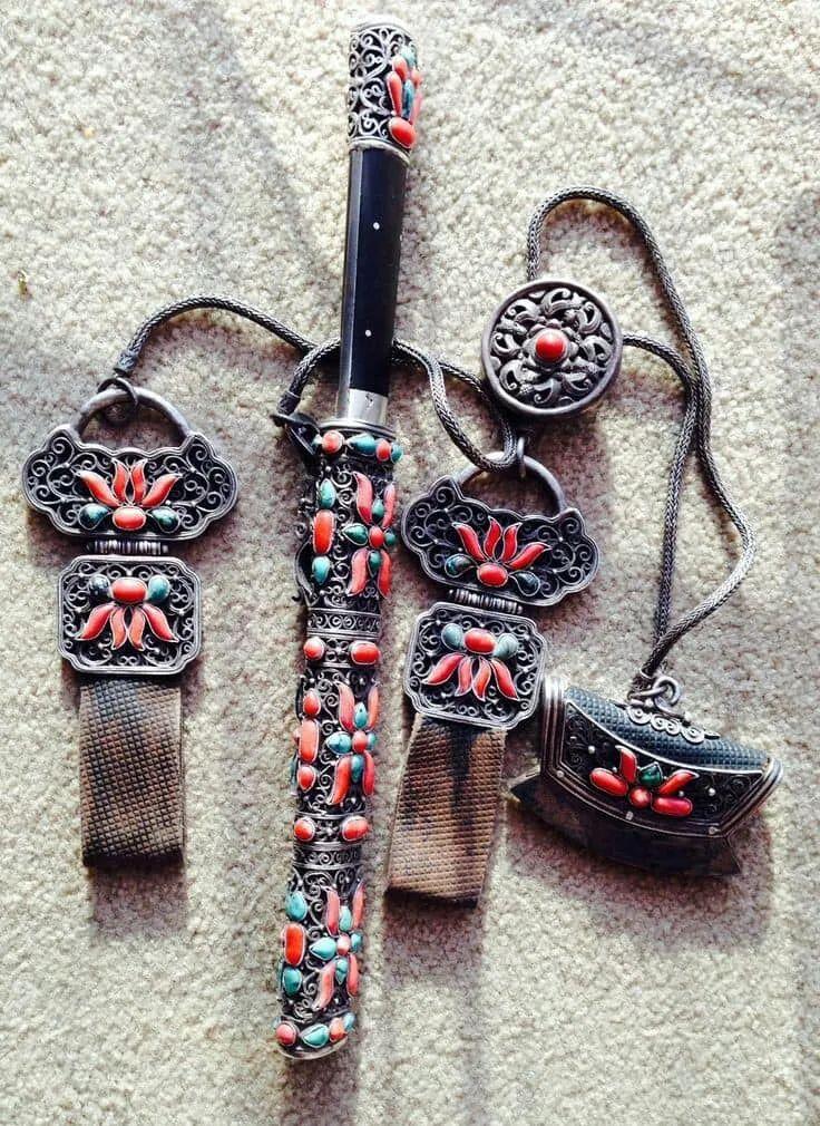 蒙古族佩刀装饰艺术 第14张
