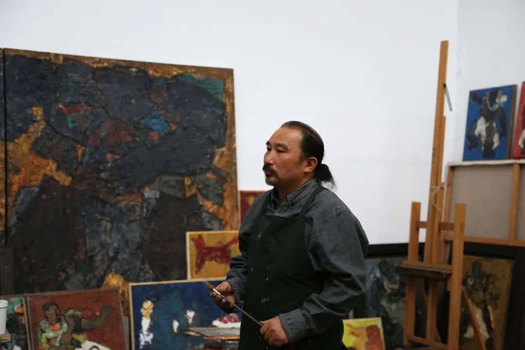 身边的名家|砂金的油画写生 第1张 身边的名家|砂金的油画写生 蒙古画廊