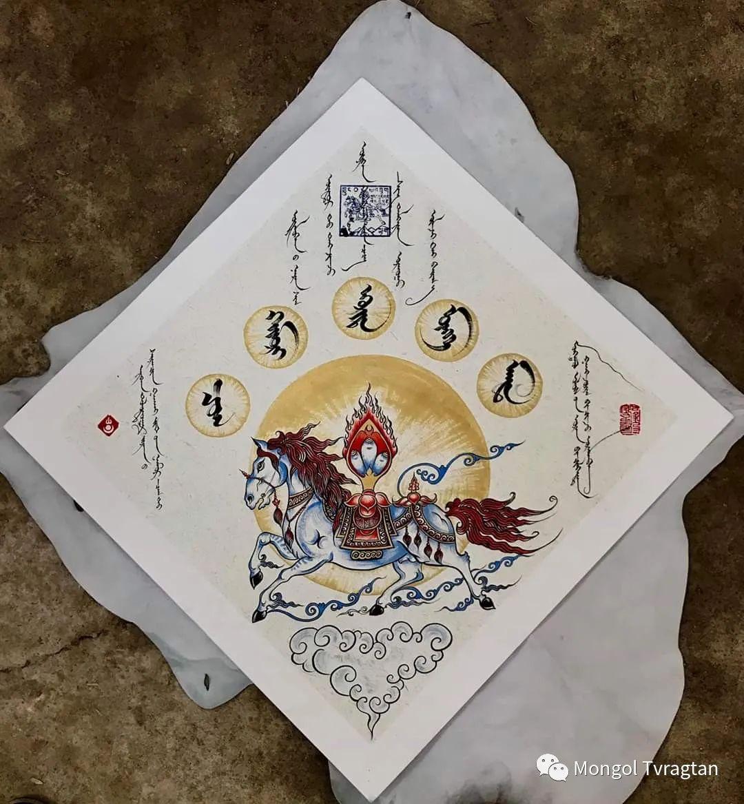 蒙古文书法ᠣᠷᠠᠨ ᠪᠢᠴᠢᠯᠭᠡ- 2 第21张