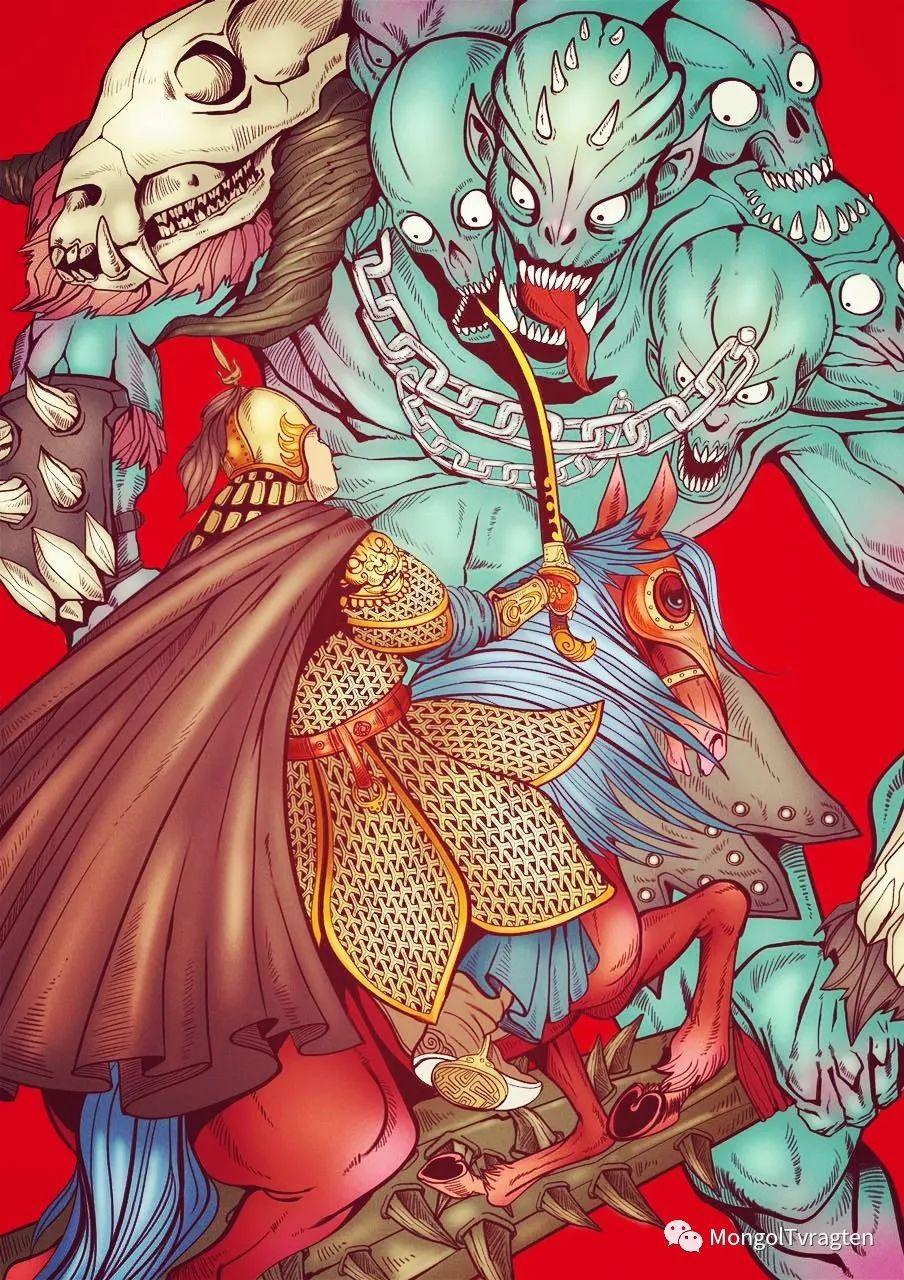 蒙古族插图画家--海日瀚ᠮᠣᠩᠭᠣᠯ ᠵᠢᠷᠣᠭᠠᠴᠢ- ᠬᠠᠢᠷᠬᠠᠨ 第8张 蒙古族插图画家--海日瀚ᠮᠣᠩᠭᠣᠯ ᠵᠢᠷᠣᠭᠠᠴᠢ- ᠬᠠᠢᠷᠬᠠᠨ 蒙古画廊
