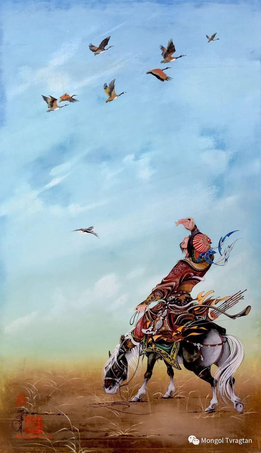 蒙古画家-- 拉哈仁亲 ᠤᠷᠠᠨ ᠵᠢᠷᠤᠭ-ᡀᠠᠭᠸᠠᠷᠢᠨᠴᠢᠨ 第1张