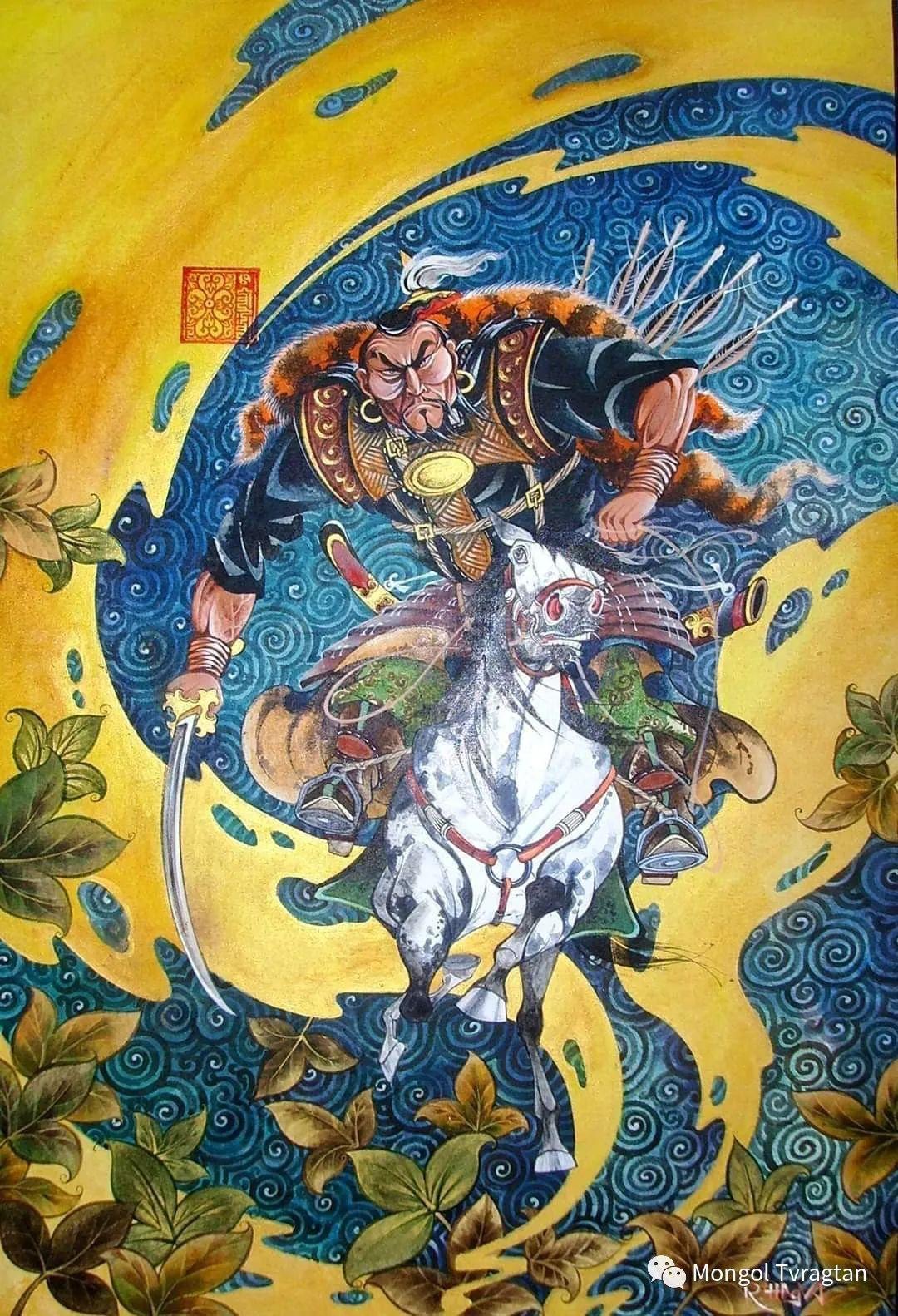 蒙古画家-- 拉哈仁亲 ᠤᠷᠠᠨ ᠵᠢᠷᠤᠭ-ᡀᠠᠭᠸᠠᠷᠢᠨᠴᠢᠨ 第6张