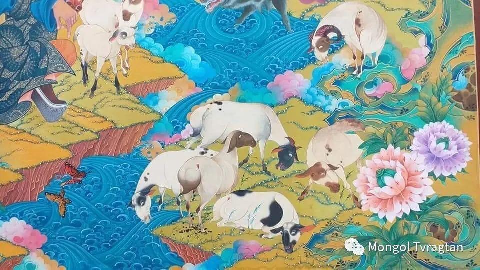 蒙古画家-- 拉哈仁亲 ᠤᠷᠠᠨ ᠵᠢᠷᠤᠭ-ᡀᠠᠭᠸᠠᠷᠢᠨᠴᠢᠨ 第10张