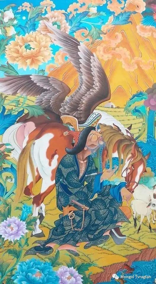 蒙古画家-- 拉哈仁亲 ᠤᠷᠠᠨ ᠵᠢᠷᠤᠭ-ᡀᠠᠭᠸᠠᠷᠢᠨᠴᠢᠨ 第11张