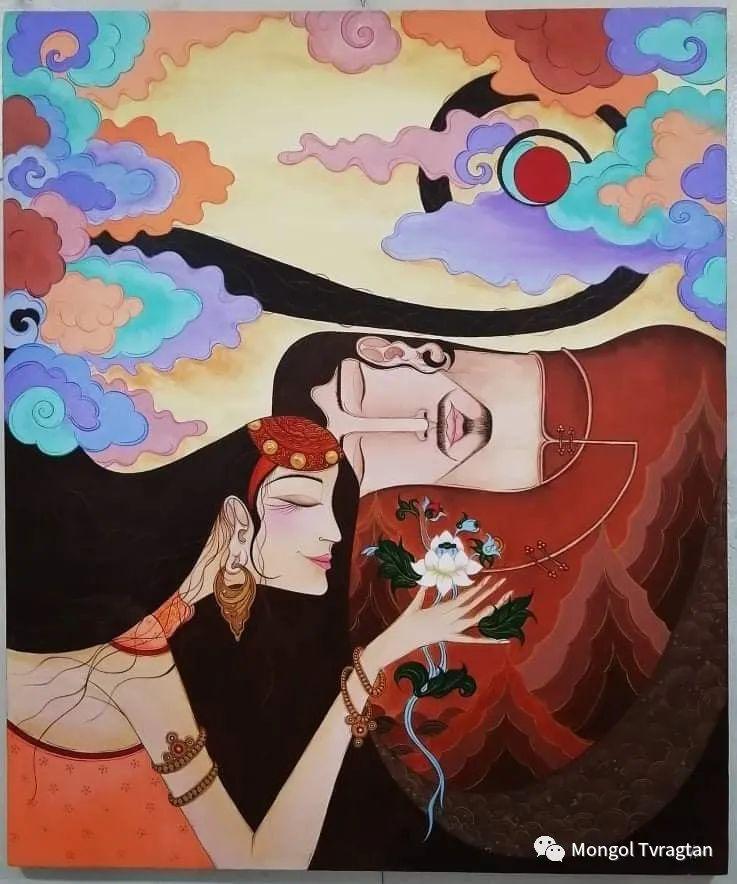 蒙古画家-苏布德玛ᠣᠷᠠᠨ ᠵᠢᠷᠣᠭ -ᠰᠣᠪᠣᠳᠮ ᠡ 第4张 蒙古画家-苏布德玛ᠣᠷᠠᠨ ᠵᠢᠷᠣᠭ -ᠰᠣᠪᠣᠳᠮ ᠡ 蒙古画廊
