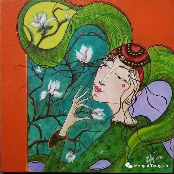 蒙古画家-苏布德玛ᠣᠷᠠᠨ ᠵᠢᠷᠣᠭ -ᠰᠣᠪᠣᠳᠮ ᠡ 第3张 蒙古画家-苏布德玛ᠣᠷᠠᠨ ᠵᠢᠷᠣᠭ -ᠰᠣᠪᠣᠳᠮ ᠡ 蒙古画廊