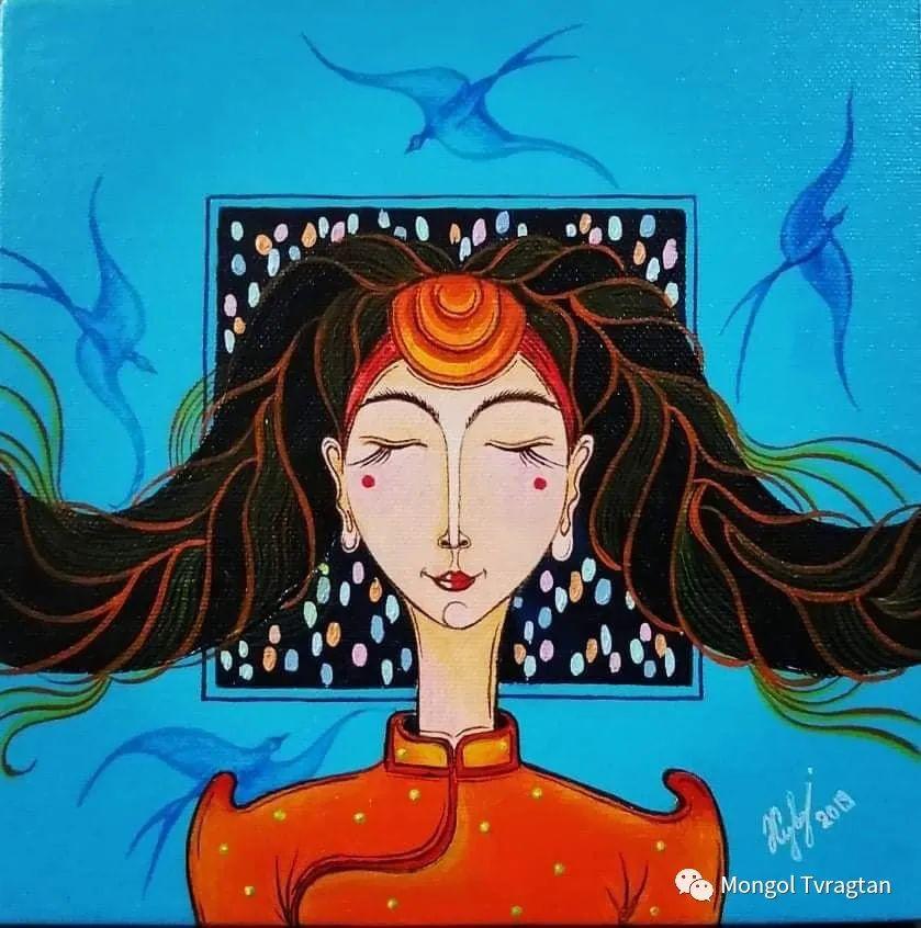 蒙古画家-苏布德玛ᠣᠷᠠᠨ ᠵᠢᠷᠣᠭ -ᠰᠣᠪᠣᠳᠮ ᠡ 第6张 蒙古画家-苏布德玛ᠣᠷᠠᠨ ᠵᠢᠷᠣᠭ -ᠰᠣᠪᠣᠳᠮ ᠡ 蒙古画廊