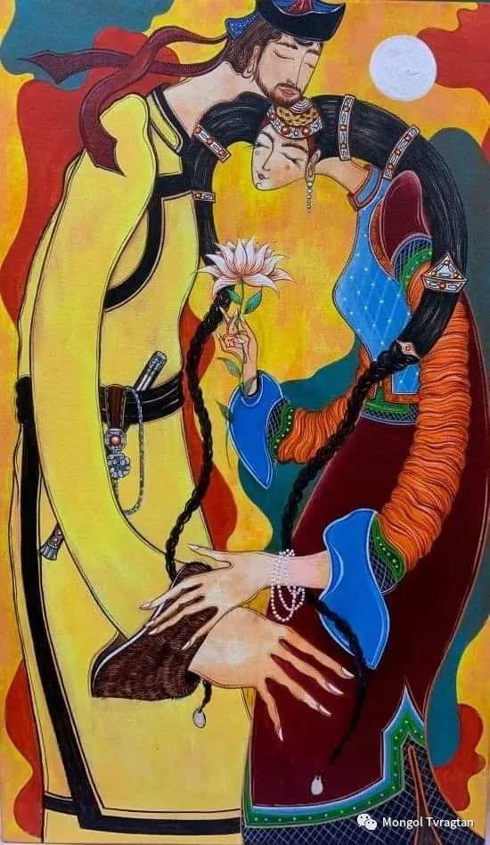 蒙古画家-苏布德玛ᠣᠷᠠᠨ ᠵᠢᠷᠣᠭ -ᠰᠣᠪᠣᠳᠮ ᠡ 第5张 蒙古画家-苏布德玛ᠣᠷᠠᠨ ᠵᠢᠷᠣᠭ -ᠰᠣᠪᠣᠳᠮ ᠡ 蒙古画廊