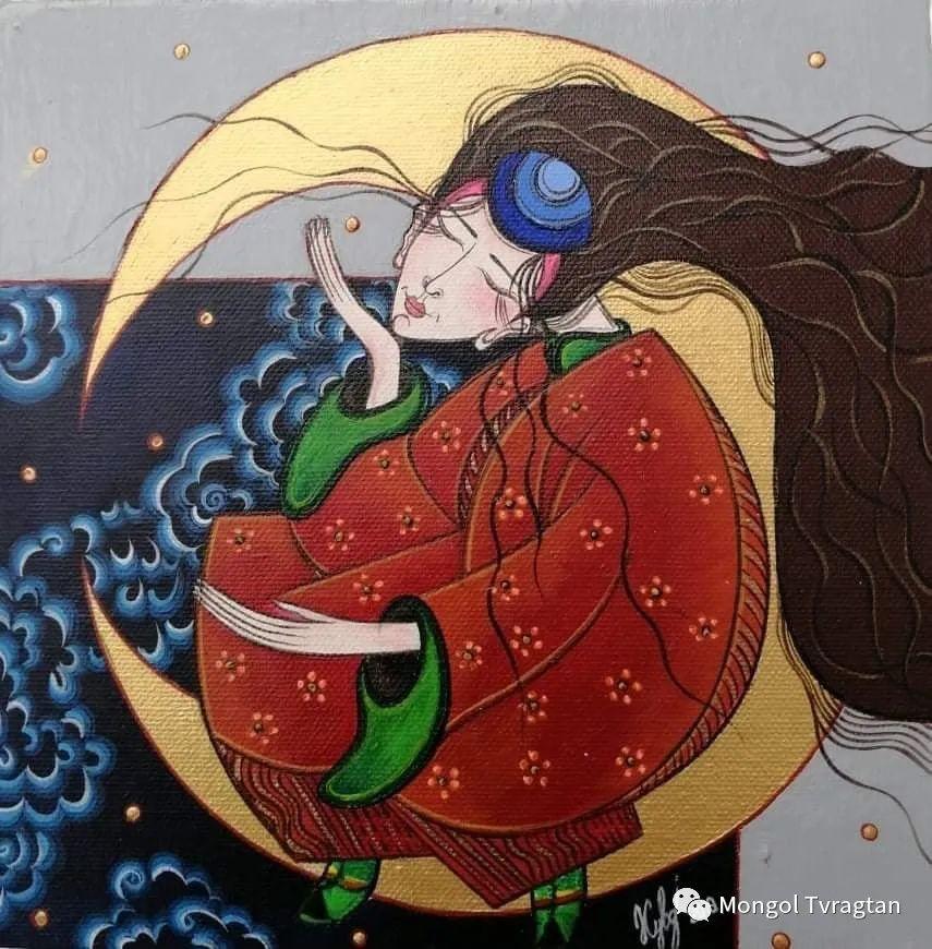 蒙古画家-苏布德玛ᠣᠷᠠᠨ ᠵᠢᠷᠣᠭ -ᠰᠣᠪᠣᠳᠮ ᠡ 第8张 蒙古画家-苏布德玛ᠣᠷᠠᠨ ᠵᠢᠷᠣᠭ -ᠰᠣᠪᠣᠳᠮ ᠡ 蒙古画廊