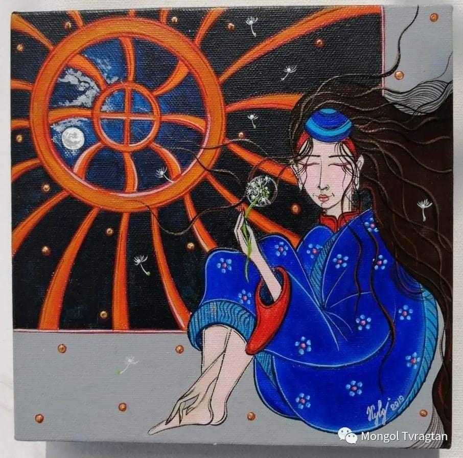蒙古画家-苏布德玛ᠣᠷᠠᠨ ᠵᠢᠷᠣᠭ -ᠰᠣᠪᠣᠳᠮ ᠡ 第9张 蒙古画家-苏布德玛ᠣᠷᠠᠨ ᠵᠢᠷᠣᠭ -ᠰᠣᠪᠣᠳᠮ ᠡ 蒙古画廊
