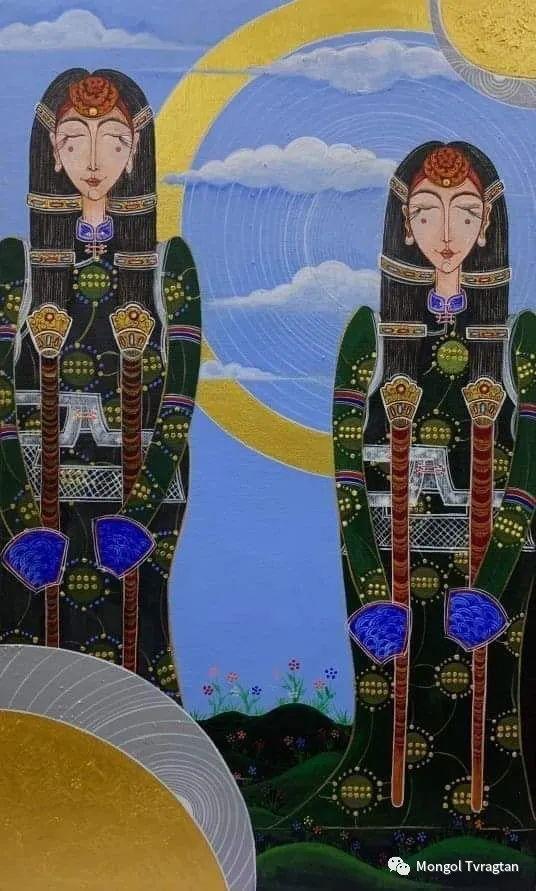蒙古画家-苏布德玛ᠣᠷᠠᠨ ᠵᠢᠷᠣᠭ -ᠰᠣᠪᠣᠳᠮ ᠡ 第13张 蒙古画家-苏布德玛ᠣᠷᠠᠨ ᠵᠢᠷᠣᠭ -ᠰᠣᠪᠣᠳᠮ ᠡ 蒙古画廊