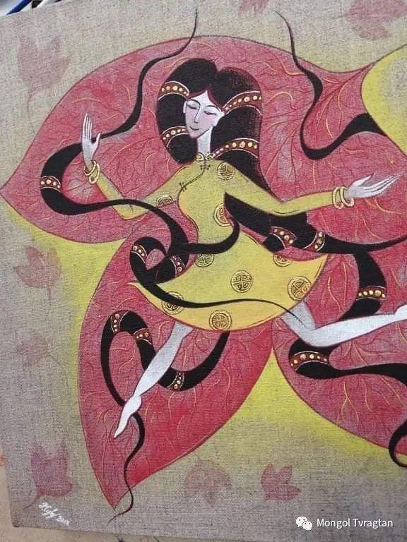 蒙古画家-苏布德玛ᠣᠷᠠᠨ ᠵᠢᠷᠣᠭ -ᠰᠣᠪᠣᠳᠮ ᠡ 第11张 蒙古画家-苏布德玛ᠣᠷᠠᠨ ᠵᠢᠷᠣᠭ -ᠰᠣᠪᠣᠳᠮ ᠡ 蒙古画廊