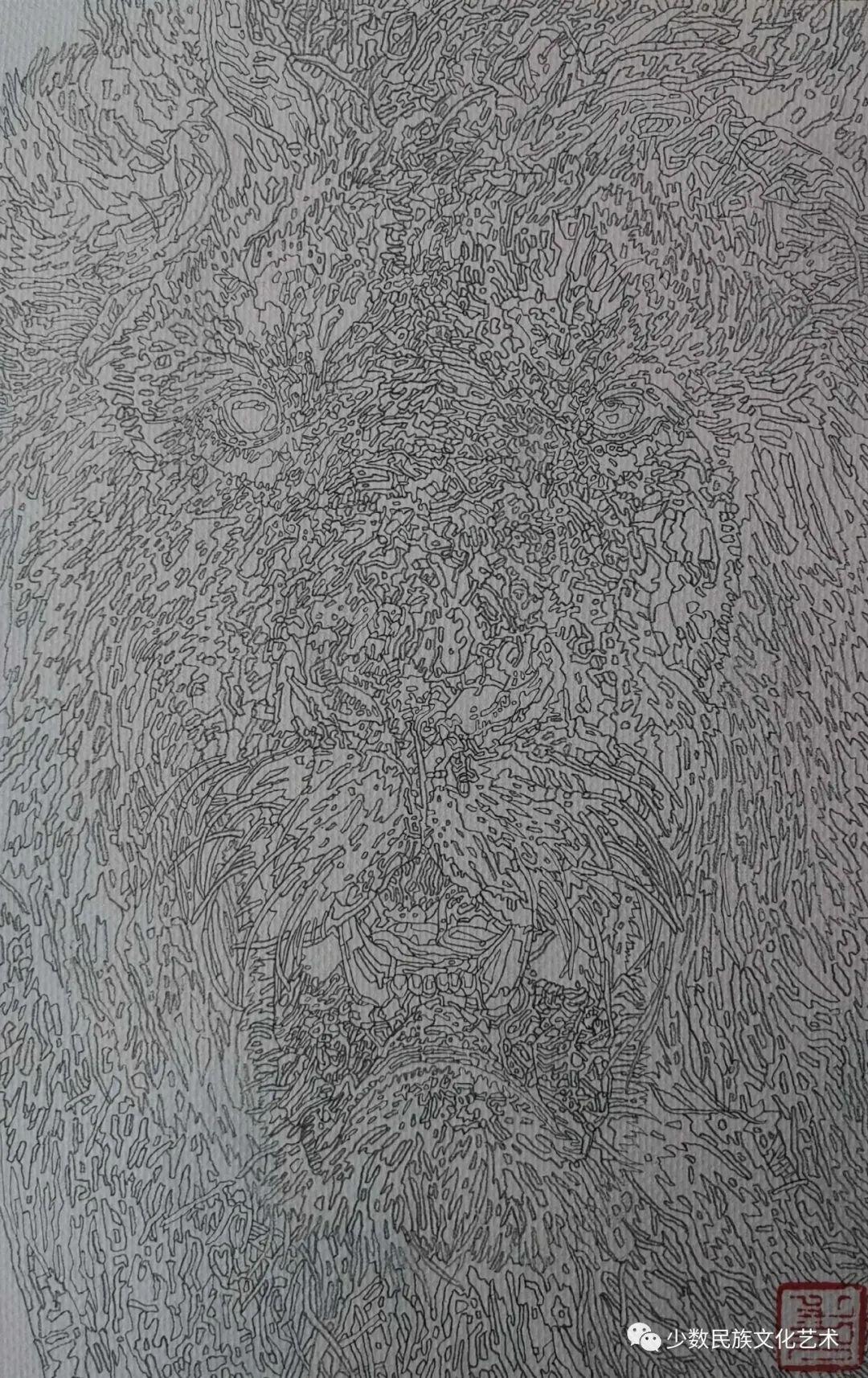 蒙古族青年画家吴智彬近作欣赏 第7张 蒙古族青年画家吴智彬近作欣赏 蒙古画廊