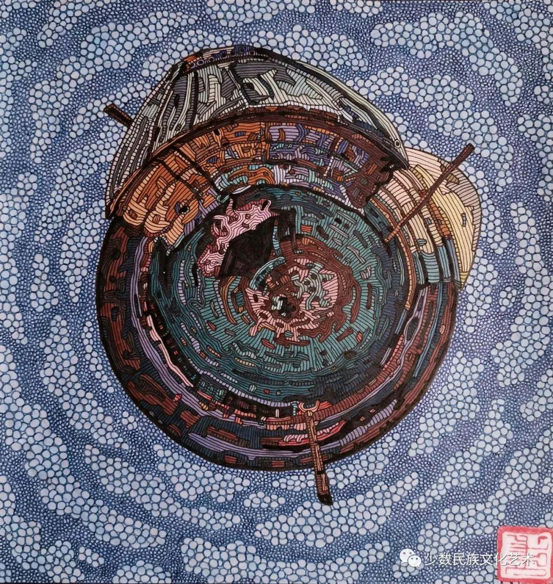 蒙古族青年画家吴智彬近作欣赏 第14张 蒙古族青年画家吴智彬近作欣赏 蒙古画廊