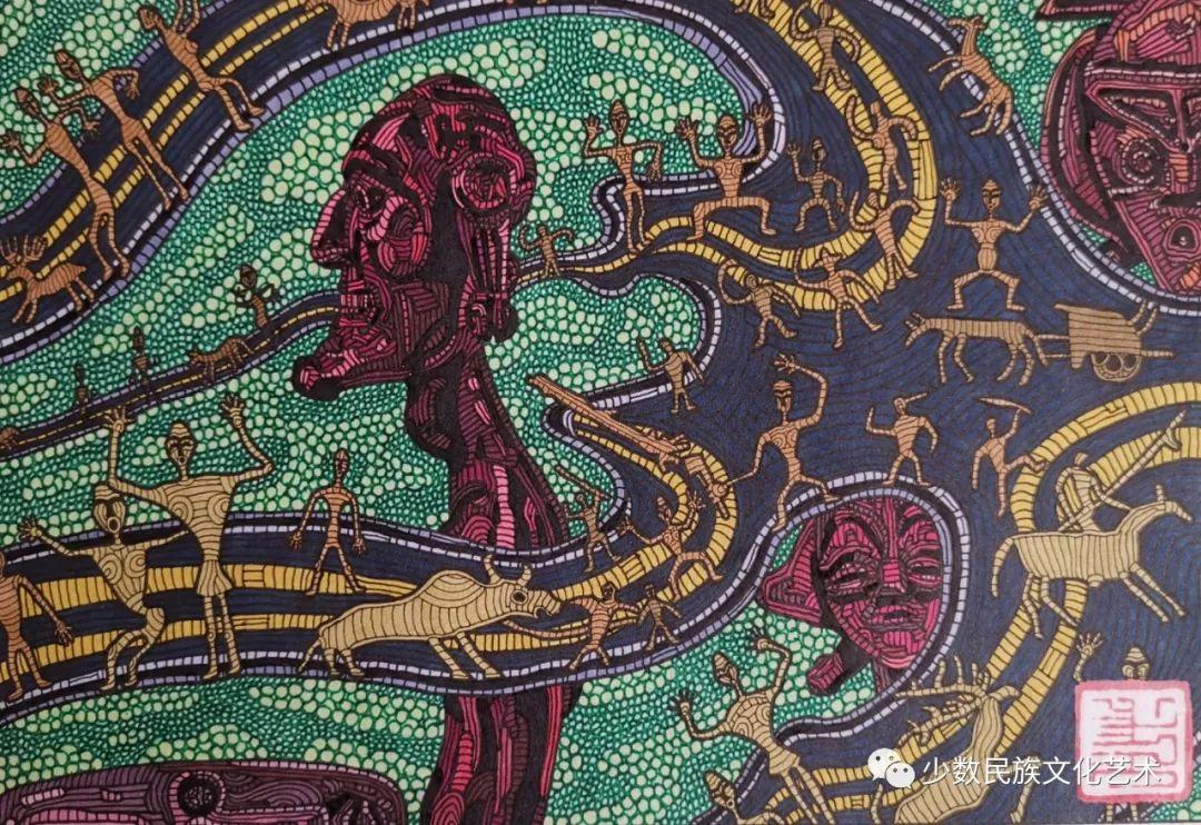 蒙古族青年画家吴智彬近作欣赏 第15张 蒙古族青年画家吴智彬近作欣赏 蒙古画廊