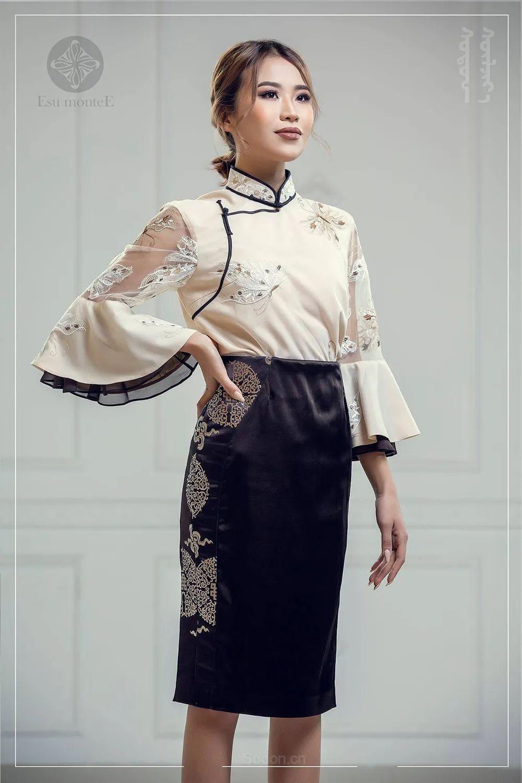 蒙古国 Esu 蒙古时装2020初冬新款首发,优雅奢华! 第9张