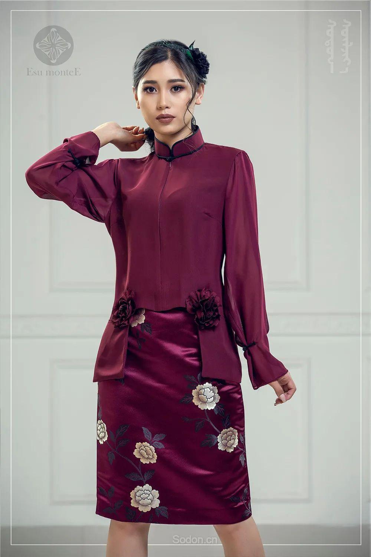 蒙古国 Esu 蒙古时装2020初冬新款首发,优雅奢华! 第15张