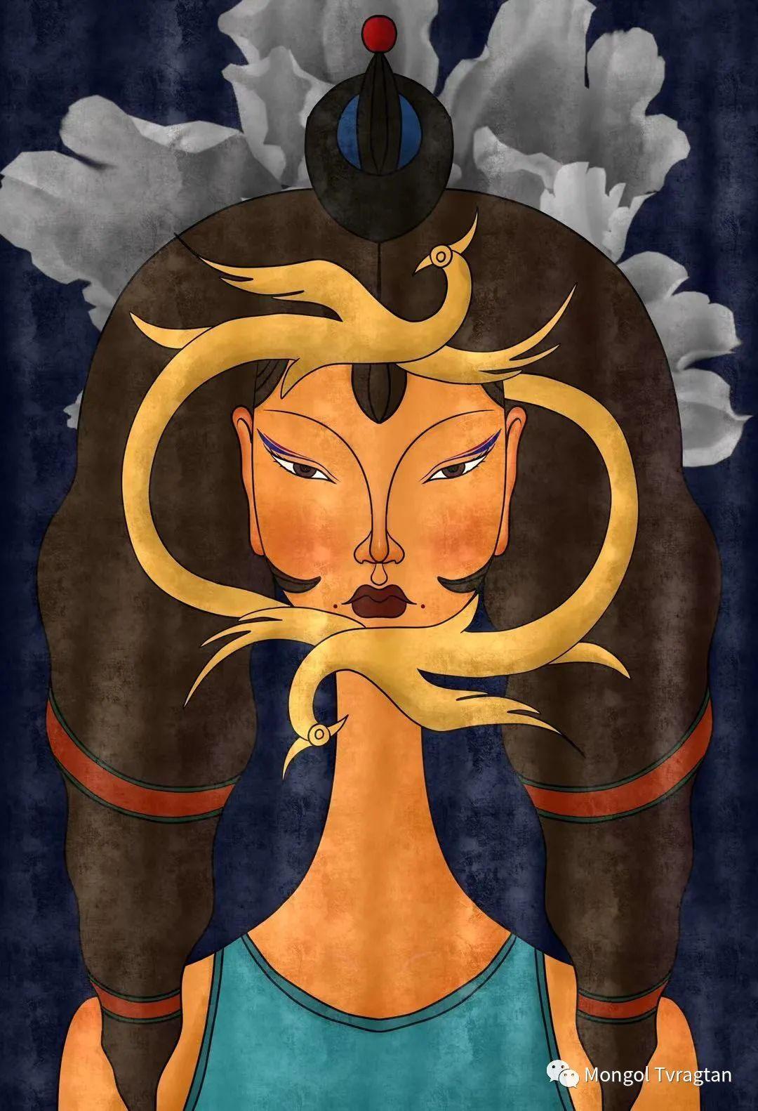 蒙元素插画师  产品设计师--格根塔娜