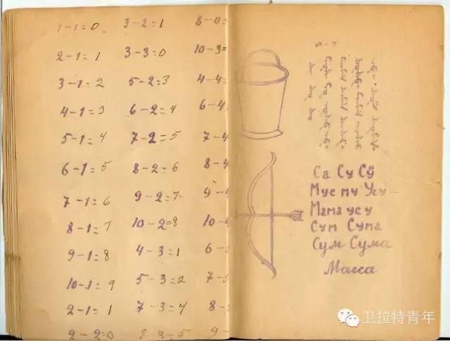 1947年的卡尔梅克蒙古语教材 第9张 1947年的卡尔梅克蒙古语教材 蒙古文化