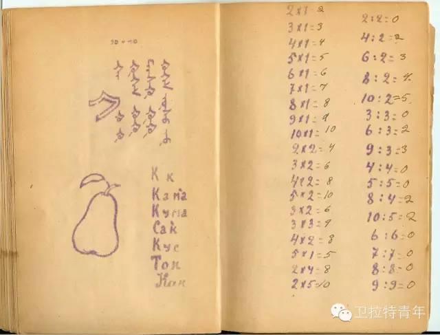 1947年的卡尔梅克蒙古语教材 第13张 1947年的卡尔梅克蒙古语教材 蒙古文化