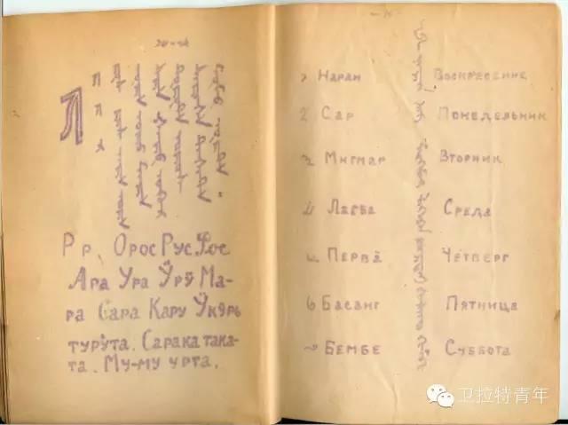1947年的卡尔梅克蒙古语教材 第15张 1947年的卡尔梅克蒙古语教材 蒙古文化