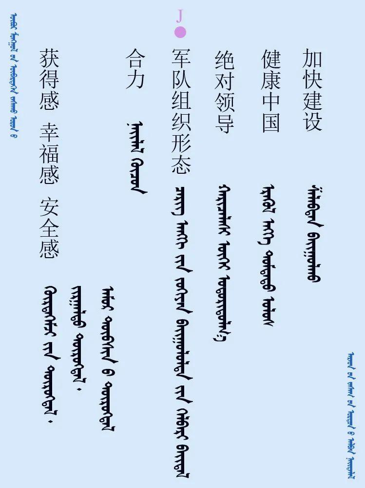 中共十九届五中全会 ------ 词语翻译摘录(蒙古文) 第4张 中共十九届五中全会 ------ 词语翻译摘录(蒙古文) 蒙古文库
