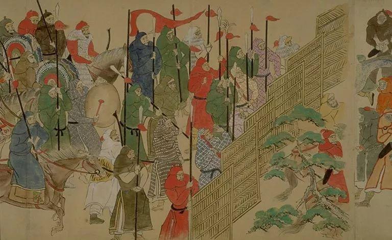 日本传世名画《蒙古袭来绘词》