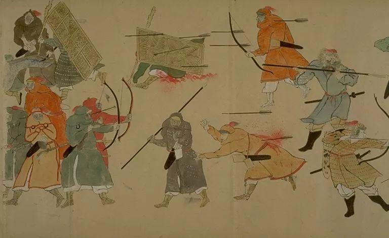 日本传世名画《蒙古袭来绘词》 第4张