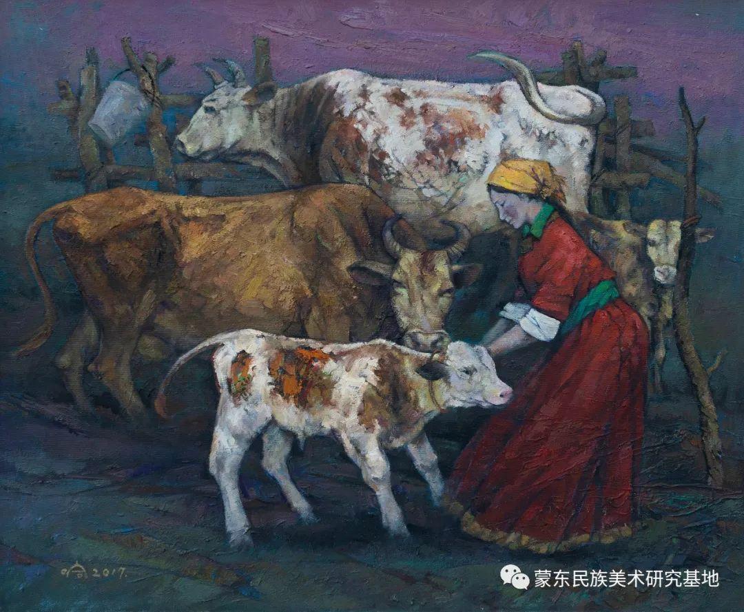 科尔沁首届油画展作品集 第8张 科尔沁首届油画展作品集 蒙古画廊