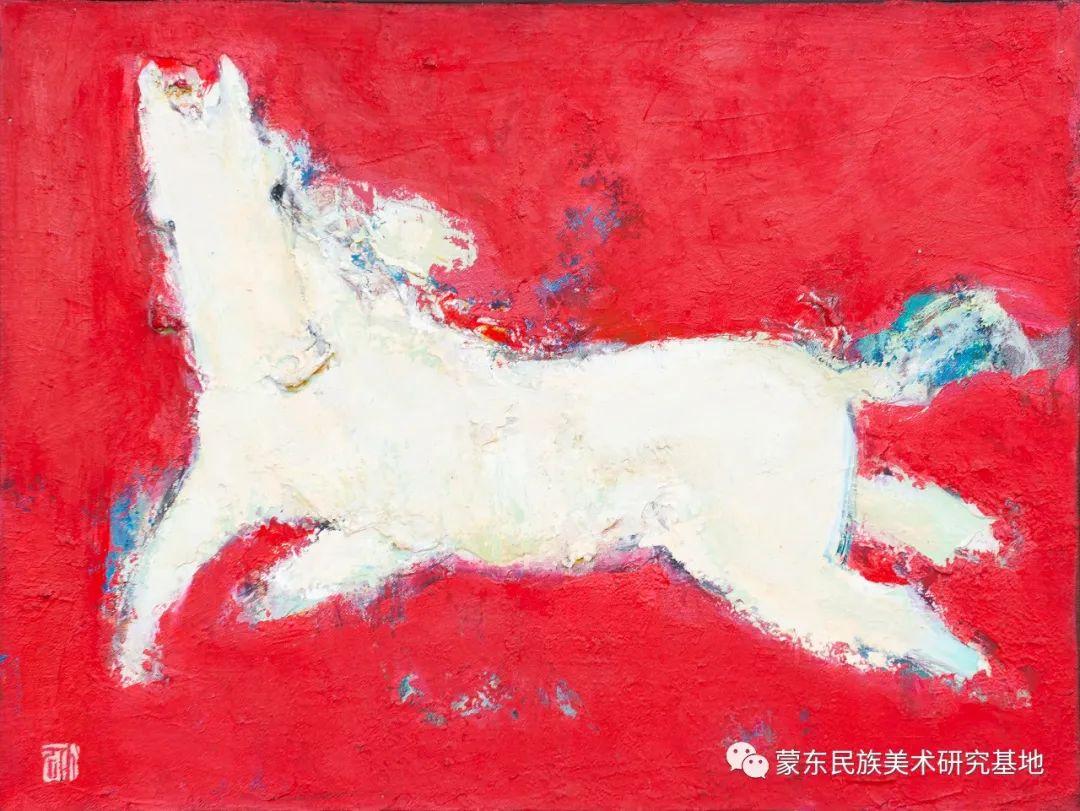 科尔沁首届油画展作品集 第7张 科尔沁首届油画展作品集 蒙古画廊