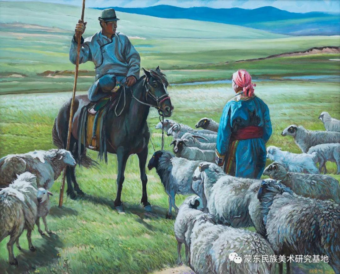 科尔沁首届油画展作品集 第9张 科尔沁首届油画展作品集 蒙古画廊
