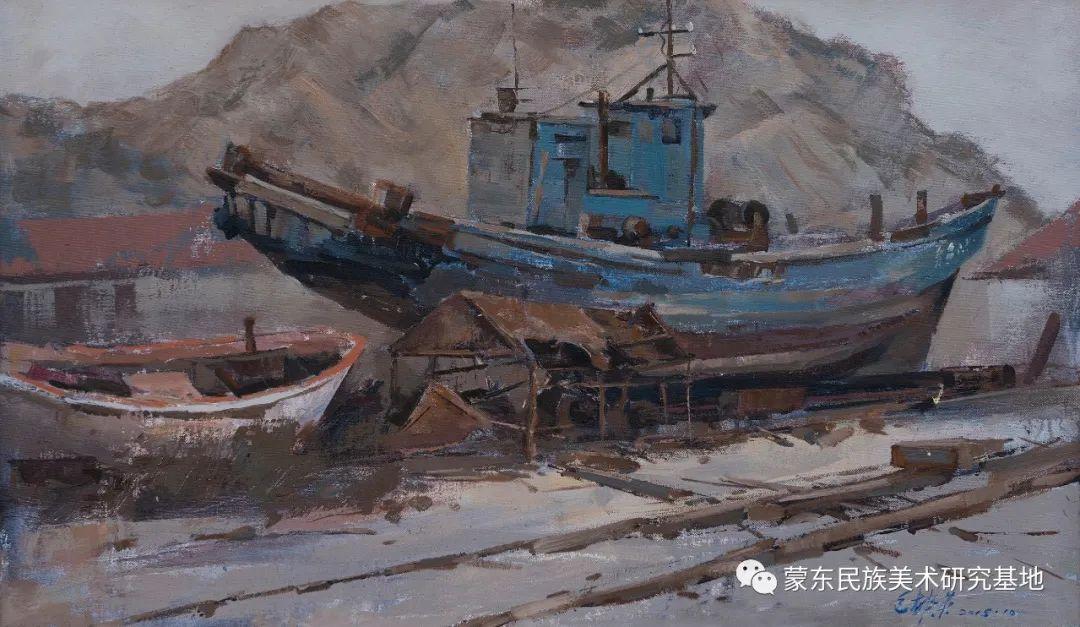 科尔沁首届油画展作品集 第11张 科尔沁首届油画展作品集 蒙古画廊