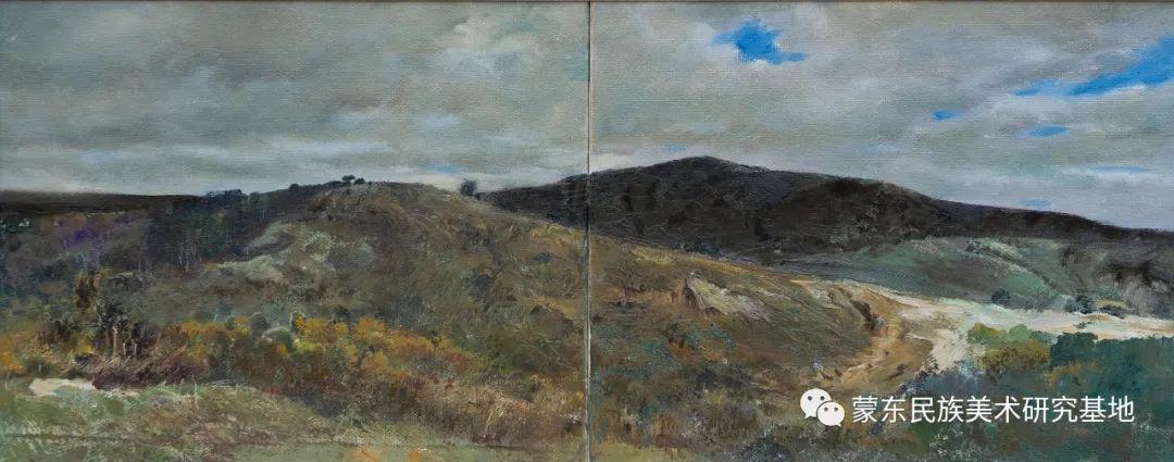 科尔沁首届油画展作品集 第14张 科尔沁首届油画展作品集 蒙古画廊