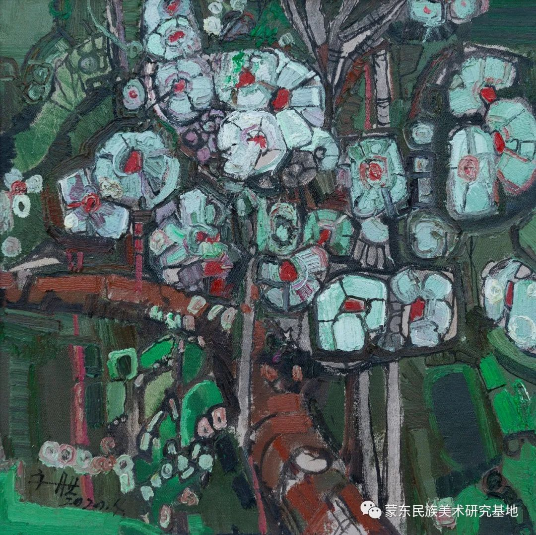 科尔沁首届油画展作品集 第18张 科尔沁首届油画展作品集 蒙古画廊