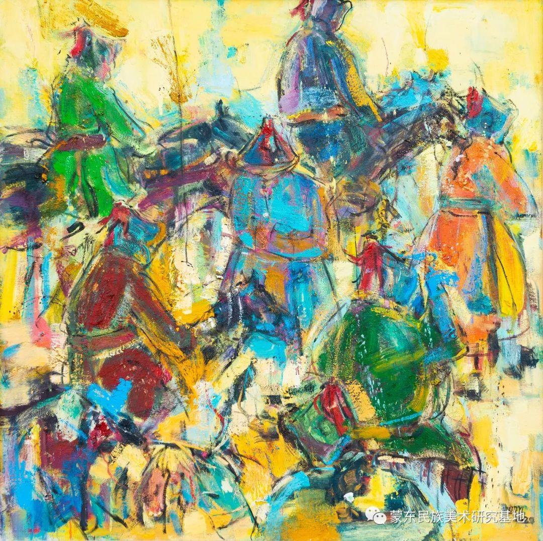 科尔沁首届油画展作品集 第28张 科尔沁首届油画展作品集 蒙古画廊