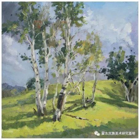 科尔沁首届油画展作品集 第26张 科尔沁首届油画展作品集 蒙古画廊