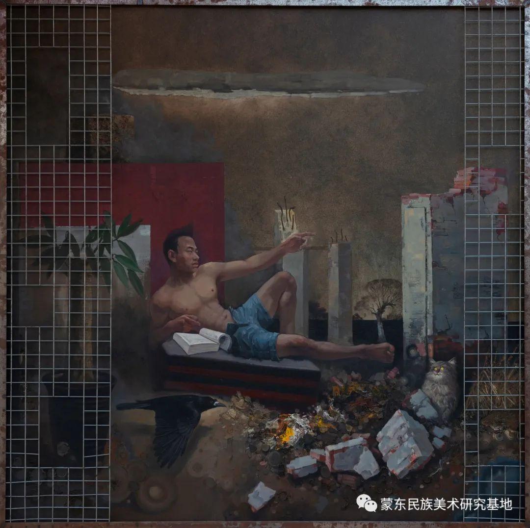 科尔沁首届油画展作品集 第32张 科尔沁首届油画展作品集 蒙古画廊